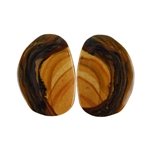 Royal Sahara Jasper Gemstone - Freeform Cabochon Pair 14x15mm - 1 Pair
