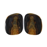 Royal Sahara Jasper Gemstone - Freeform Cabochon Pair 15x18mm - 1 Pair