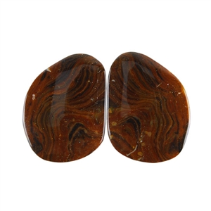 Royal Sahara Jasper Gemstone - Freeform Cabochon Pair 15x20mm - 1 Pair