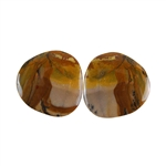 Royal Sahara Jasper Gemstone - Freeform Cabochon Pair 22x22mm - 1 Pair