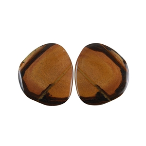 Royal Sahara Jasper Gemstone - Freeform Cabochon Pair 20x22mm - 1 Pair
