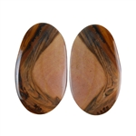 Royal Sahara Jasper Gemstone - Freeform Cabochon Pair 15x26mm - 1 Pair