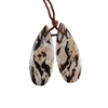 Natural Peanut Wood Gemstone - Pendant Pear 11x30mm - Matched Pair