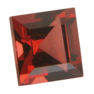 Natural Almandine Garnet 4x4mm Square - Pak of 2