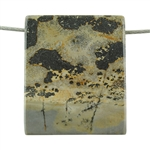Crazy Horse Jasper Gemstone - Rectangle Pendant 32mm x 38mm - Pkg of 1