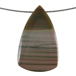 Royal Imperial Jasper Gemstone - Shield Pendant 36mm x 59mm Pkg - 1