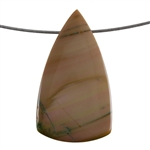 Royal Imperial Jasper Gemstone - Shield Pendant 31mm x 55mm Pkg - 1