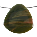 Royal Imperial Jasper Gemstone - Trillion Pendant 45mm - Pak of 1