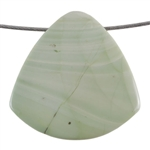 Royal Imperial Jasper Gemstone - Trillion Pendant 40mm Pkg - 1
