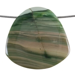 Royal Imperial Jasper Gemstone - Trillion Pendant 41mm x 42mm Pkg - 1