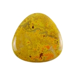 Natural Bumblebee Jasper Gemstone - Cabochon Trillion 35mm Pkg - 1