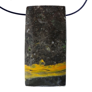 Bumblebee Jasper Gemstone - Rectangle Pendant 21mm x 41mm