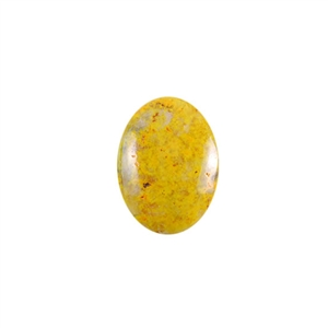 Natural Bumblebee Jasper Gemstone - Cabochon Oval 15mm x 20mm Pkg - 1