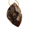 Natural Peanut Wood Gemstone - Pendant Freeform 34mm x 55mm Pkg - 1