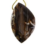 Natural Peanut Wood Gemstone - Pendant Freeform 33mm x 53mm - Pak of 1