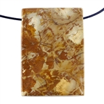 Birds Eye Rhyolite Gemstone - Rectangle Pendant 31mm x 44mm Pkg - 1