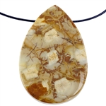 Birds Eye Rhyolite Gemstone - Freeform Pendant 33mm x 48mm Pkg - 1