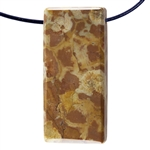 Birds Eye Rhyolite Gemstone - Rectangle Pendant 18mm x 45mm Pkg - 1