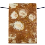 Birds Eye Rhyolite Gemstone - Rectangle Pendant 14mm x 42mm Pkg - 1