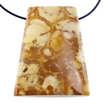 Birds Eye Rhyolite Gemstone - Freeform Pendant 25mm x 30mm Pkg - 1