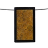Inlay Black Onyx and Fossil Coral Gemstone - Rectangle 24x41mm Pendant - Pak of 1
