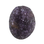 Amethyst Druzy Gemstone - Oval 30mm x 38mm - Pak of 1