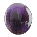 Natural Amethyst Gemstone - Cabochon Freeform 34mm x 38mm Pkg - 1