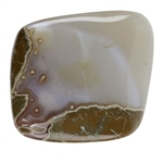 Natural Thunderegg Agate Gemstone - Cabochon Freeform 29mm x 41mm Pkg - 1