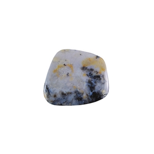 Amethyst Sage Dendritic Agate Gemstone - Freeform Cabochon 26x32mm - Pak of 1