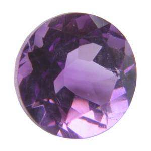 Natural Amethyst 3mm Round - Pak of 2