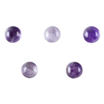Natural Amethyst Cabochon 6mm Round - Pak of 1