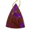 Sugilite Gemstone - Shield Pendant 32mm x 41mm - Pak of 1