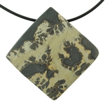 Wild Horse Magnesite Jasper Gemstone - Square Pendant 47mm - Pkg of 1