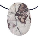 Wild Horse Jasper Gemstone - Freeform Pendant 32mm x 45.5mm - Pkg of 1