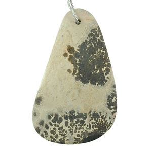 Sonora Dendritic Rhyolite Jasper Gemstone - Tapered Drop Cabochon 16x55mm - Pak of 1