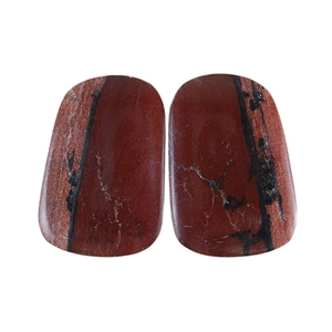 Sonora Dendritic Rhyolite Jasper Gemstone - Freeform Cabochon Pair 15x22mm - Pak of 1