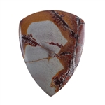 Sonora Dendritic Rhyolite Jasper Gemstone - Shield Cabochon 36mm x 47mm - Pak of 1