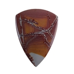 Sonora Dendritic Rhyolite Jasper Gemstone - Shield Cabochon 25mm x 34mm - Pak of 1