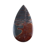 Sonora Dendritic Rhyolite Jasper Gemstone - Pear Cabochon 25mm x 47mm - Pak of 1