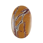 Sonora Dendritic Rhyolite Jasper Gemstone - Oval Cabochon 28x45mm - Pak of 1