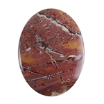 Sonora Dendritic Rhyolite Jasper Gemstone - Oval Cabochon 31mm x 40mm - Pak of 1