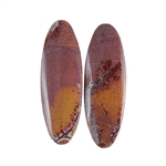 Sonora Dendritic Rhyolite Jasper Gemstone - Oval Cabochon Pair 10x29mm - Pak of 1