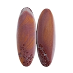 Sonora Dendritic Rhyolite Jasper Gemstone - Oval Cabochon Pair 10mm x 29mm - Matched Pair