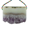 Amethyst Stalactite Gemstone - Round Freeform 48x51mm - Pak of 1