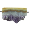 Amethyst Stalactite Gemstone - Round Freeform 21x22mm - Pak of 1