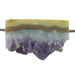 Amethyst Stalactite Gemstone - Rectangle Pendant 30mm x 20mm Pkg - 1