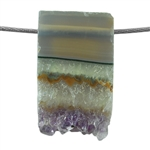 Amethyst Stalactite Gemstone - Round Freeform 19x20mm - Pak of 1