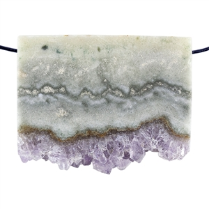 Amethyst Stalactite Gemstone - Oval Freeform 26x36mm - Pak of 1