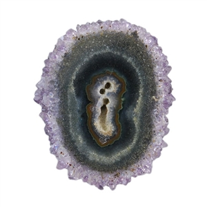 Amethyst Stalactite Gemstone - Oval Freeform 30x36mm - Pak of 1
