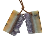 Amethyst Stalactite Gemstone - Round Freeform 22x23mm - Pak of 1